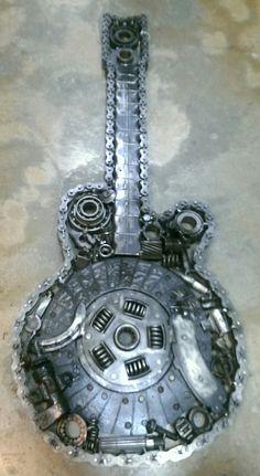 welded musical instruments on pinterest guitar steampunk guitar and sculpture. Black Bedroom Furniture Sets. Home Design Ideas