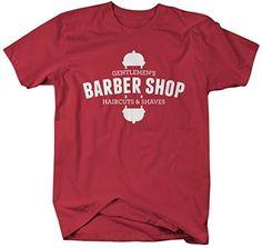Shirts By Sarah Men's Gentlemen's Barber Shop T-Shirt Haircuts Saves Shirt