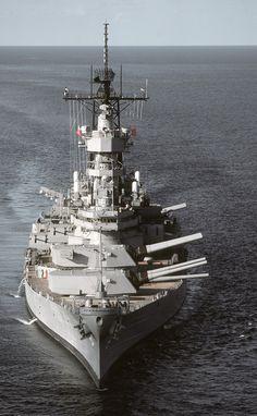 The World War II Battleship USS Missouri BB64, the scene of the Japanese Surrender Ceremony in 1945.