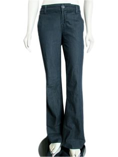 "The perfect J Brand ""Seline"" trouser style jeans, done in a dark blue"