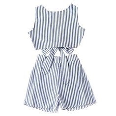 1235b28d59 PHOTNO 2 Pieces Set Tank Tops And Shorts Outfit Women Summer Striped Crop  Top+Short