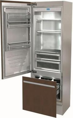 """FI24BLO 24"""" Integrated Series Build In Bottom Freezer Refrigerator with 12.1 cu. ft. Capacity TriPro Refrigeration TotalNoFrost and OptiView in Panel Ready"""