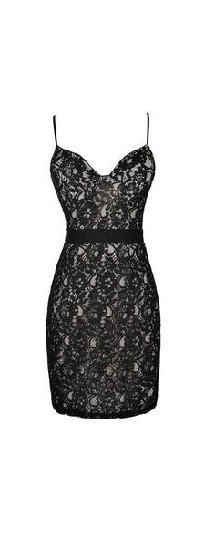 Give Me A Bustier Black Lace Pencil Dress  www.lilyboutique.com