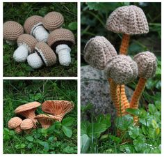 PDF... ***This listing is for the crochet pattern only. Finished mushrooms are not included!*** Make a lovely fall decoration with this beautifull mushrooms. This crochet pattern will instruct you on how to crochet following mushrooms: Champignons (4 shapes/sizes) Chanterelle (4 shapes/sizes) Mycena (4 shapes/sizes) Bloody Brittlegill (2 shapes/sizes) King Bolete (1 shape/size) Rosy Spike Cap (1 shape/size) You can use any kind of yarn to crochet these mushrooms. Size depending on the…