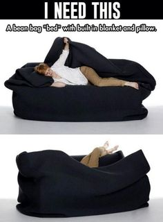 My Life Really Needs This. I have a bean bag chair. I place it in front of my t. But my room is freezing and I got a leather bean bag chair. So this would be perfect! My New Room, My Room, Dorm Room, Bean Bag Bed, Take My Money, Cool Inventions, Looks Cool, My Dream Home, Must Haves