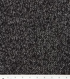 Simple Luxuries- Wool Blend Boucle Black & Ivory Metallic Fabric: apparel fabric: fabric: Shop   Joann.com