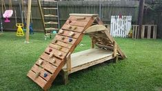 My Shed Plans - Pallet climbing structure - Now You Can Build ANY Shed In A Weekend Even If You've Zero Woodworking Experience! Backyard Playground, Backyard For Kids, Diy For Kids, Playground Ideas, Pallet Playground, Goat Playground, Backyard Jungle Gym, Diy Pallet Projects, Woodworking Projects Diy