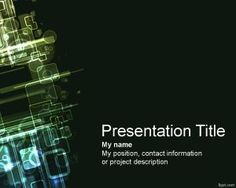 IT PowerPoint Template is a free background for PowerPoint presentations with a…