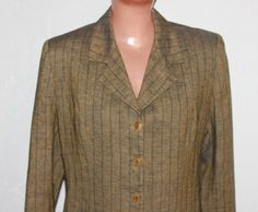 Vintage 90s Olive Green Paisley Silk Blouse Shirt Blazer Jacket 90s Button Up Top Double Breasted Summer Coat Sheer Blouse Dress Top