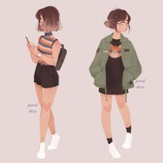 Ideas For Drawing Girl Sketches Character Design Ideas . - Ideas For Drawing Girl Sketches Character Design Ideas For Drawing Girl Sk - Pretty Art, Cute Art, Fashion Sketches, Art Sketches, Clothing Sketches, Fashion Design Drawings, Punziella, Kleidung Design, Girl Sketch