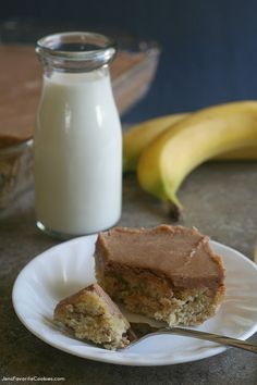 Roasted Banana Cake with Cinnamon Brown Butter Frosting
