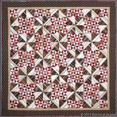 """Pfeffernuese! 84"""" X 84"""" by Bonnie Hunter...one of the quilts in her new book String Fling.  I'm doing this one!"""