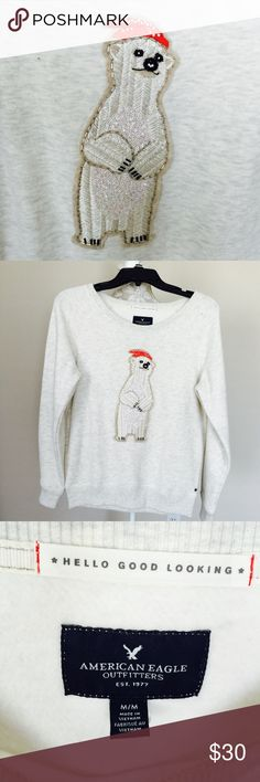 American eagle embellished sweat shirt Brand new with tag. Size M American Eagle Outfitters Tops Sweatshirts & Hoodies