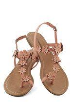 Garden Garland Sandal in Peach | Mod Retro Vintage Sandals | ModCloth.com