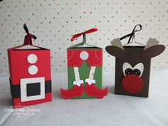 Designed by me - Milk Carton boxes perfect for xmas treats