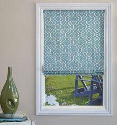 Blindsgalore® Designer Roman Shades: Statement Patterns - cordless, plain fold