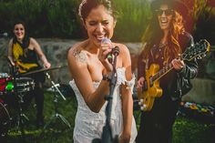 Alternative bride singing at her wedding party. We love offbeat babes. Wedding Photography Styles, Fashion Photography, Alternative Bride, Offbeat Bride, Destination Wedding Photographer, Wedding Photos, Wedding Ideas, Getting Married, Singing