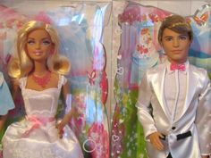 "Mattel X9444 + W2864 Barbie ""Brautpaar Barbie + Ken "" 2 Puppen- Braut+Bräutigam | eBay"