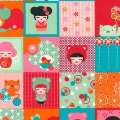Hello Tokyo Patchwork in Sweet by Lisa by SewPerfectlyVintage, $10.25