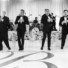 "Saturdays Are For The Boys.   Looking back to one of my favorite moments. This FOB and his 3 friends surprised the Bride and all of the guests with a choreographed routine (by me 😂🙈) to ""My Girl"" during their Father/Daughter Dance 💙    Photo: @nextexitphotography   Venue: @pelicanhillresort @pelicanhillweddings   Entertainment: @westcoastmusicbevhills   Lighting Design: @nfpevents   Floral Design: @nisiesenchanted   Planning: by yours truly #edebyjacqueline"