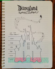 My bullet journal Disneyland countdown. Can't wait for the trip and now can't wait to color! (scheduled via http://www.tailwindapp.com?utm_source=pinterest&utm_medium=twpin)
