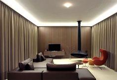 Symmetrical Tripartite Villa Moerkensheide living area open floor plan building geometry