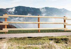 #Staccionata Ortisei. Ideale per #recinzioni di animali e maneggi. Realizzabile in acciaio #Corten e legno.
