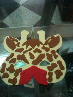 Antifaz de jirafa en goma eva