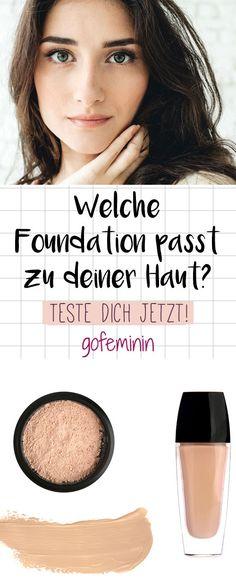 Welches Make-up passt perfekt zu dir? Mach jetzt den Test! #makeup #foundation #foundationfinder #beautytest