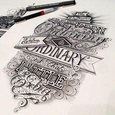 Lovely hand lettering