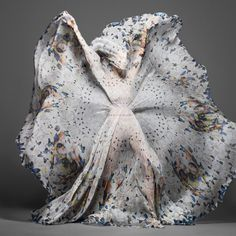 This series of pix is amazing. Alexander McQueen and Damien Hirst. How could it be anything but?