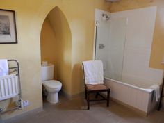 Bathroom in the Ruin Alcove, Toilet, Bathtub, Bathroom, Standing Bath, Washroom, Flush Toilet, Bathtubs, Bath Tube