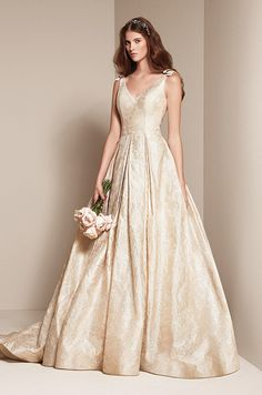 Like a queen. Wedding dress by WHITE by Vera Wang, Spring 2014