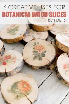 creative uses for botanical wood slices