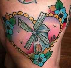 Dutch windmill tattoo - Mickey Holiday