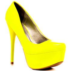 shoes | Veda Soul's Yellow Ellen - Neon Yellow for 59.99 direct from heels.com