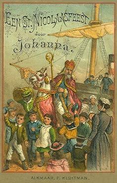 Boek : een Sint Nicolaasfeest door Johanna, 1888 (met PhotoFiltre bijgewerkte afbeelding)
