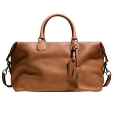 """Rodger's Picks For Father's Day  """"For weekend trips to Malibu or the Hamptons, this duffel is ideal—it fits a lot, but isn't too cumbersome to travel with."""" Explorer Bag in pebble leather, Coach $695"""