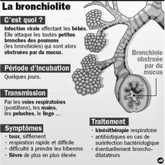 La bronchiolite, c'est quoi ? infographie symptomes, traitement de la bronchiolite