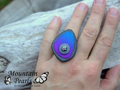 https://flic.kr/p/Bf5puc | Polymer clay ring | www.facebook.com/mountain.pearls