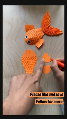 Fish Crafts, Fun Diy Crafts, Paper Crafts For Kids, Craft Activities For Kids, Creative Crafts, Preschool Crafts, Simple Paper Crafts, Paper Animal Crafts, Animal Crafts For Kids
