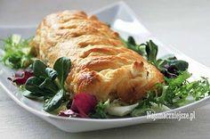 Łosoś w cieście francuskim Food And Drink, Turkey, Meat, Chicken, Recipes, Peru, Beef, Food Recipes, Rezepte