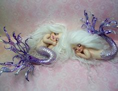 Shop for polymer clay on Etsy, the place to express your creativity through the buying and selling of handmade and vintage goods. Polymer Clay Sculptures, Sculpture Clay, Ooak Dolls, Art Dolls, Mermaid Sculpture, Baby Mold, Mermaids And Mermen, Baby Mermaid, Merfolk