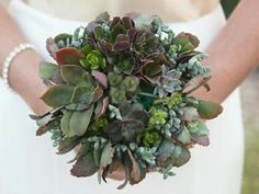 Small Succulents Wedding Bouquet | Green Bride Guide