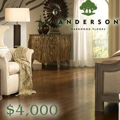 Enter the Anderson Floors' Fix My Ugly Floor $4,000 Giveaway for your chance to score the Grand Prize: $4,000 worth of Anderson Hardwood Flooring in the style of the winner's choice. (ARV: $4,000) This promotion is open to the legal residents of the USA and Canada, 18 . Enter once daily through June 30, 2013 at
