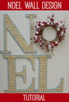 Noel Wall Design Tutorial by Denise Designed