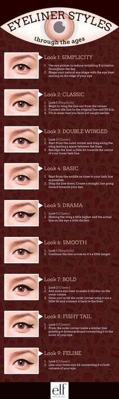 Different eyeliner Styles you can try. xtrmebeauty.com