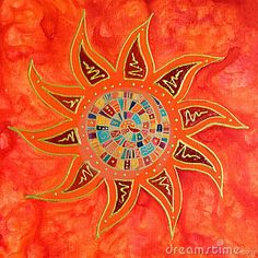 Illustration about Abstract colorful sun painting, painting was created by photographer. Illustration of unique, abstract, orange - 2607405 Walking In Sunshine, Good Day Sunshine, Art Soleil, Sun Painting, Painting Abstract, Sun Moon Stars, Sun Designs, Golden Sun, Sun Art