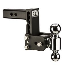 "MAGNUM-BLK8 --- B&W Tow and Stow Adjustable Ball Mount with 2"""" and 2-5/16"""" Chrome Hitch Balls, 5"""" Maximum Drop - Made in the USA"