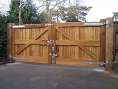 12 X 6 Wood Gate W Steel Frame Andrew Thomas
